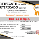 sample of certificate of engine
